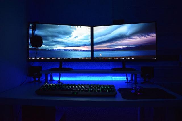 dual screens, dual computer monitors